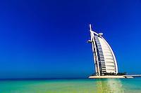 Burj Al Arab Hotel (designed to resemble a billowing sail), Dubai, United Arab Emirates