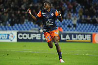 FOOTBALL - FRENCH LEAGUE CUP 2012/2013 - 1/8 FINAL - MONTPELLIER HSC v GIRONDINS BORDEAUX - 31/10/2012 - PHOTO SYLVAIN THOMAS / DPPI - JOY JONATHAN TINHAN (MHSC) AFTER HIS GOAL