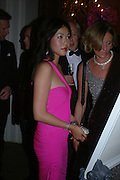 Cynthia Wu. Connaught Square Squirrel Hunt Inaugural Hunt Ball. Banqueting House, Whitehall. 8 September 2005. ONE TIME USE ONLY - DO NOT ARCHIVE  © Copyright Photograph by Dafydd Jones 66 Stockwell Park Rd. London SW9 0DA Tel 020 7733 0108 www.dafjones.com
