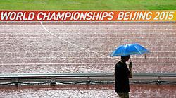 30-08-2015 CHN: IAAF World Championships Athletics day 9, Beijing<br /> Laatste dag van het WK en de regen komt met bakken naar beneden.<br /> Photo by Ronald Hoogendoorn / Sportida