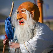Costumed Mongolian Tsam mask dance (, Mongolia - Aug. 2008) (Image ID: 080830-1147011a)