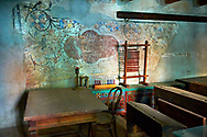 Schollroom in the Saxon Fortified church of Prejmer, Transylvania .<br /> <br /> Visit our ROMANIA HISTORIC PLACXES PHOTO COLLECTIONS for more photos to download or buy as wall art prints https://funkystock.photoshelter.com/gallery-collection/Pictures-Images-of-Romania-Photos-of-Romanian-Historic-Landmark-Sites/C00001TITiQwAdS8<br /> .<br /> Visit our MEDIEVAL PHOTO COLLECTIONS for more   photos  to download or buy as prints https://funkystock.photoshelter.com/gallery-collection/Medieval-Middle-Ages-Historic-Places-Arcaeological-Sites-Pictures-Images-of/C0000B5ZA54_WD0s