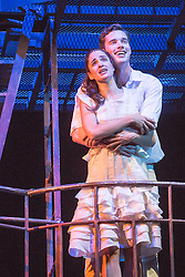 "© Licensed to London News Pictures. 07/08/2013. ""WEST SIDE STORY"" returns to Sadler's Wells Theatre from Wednesday 7 August - Sunday 22 September 2013. This production is directed and choreographed by Joey McKneely using the full original Jerome Robbins choreography. Picture shows Liam Tobin (Tony) & Elena Sancho Pereg (Maria). Photo credit: Tony Nandi/LNP"