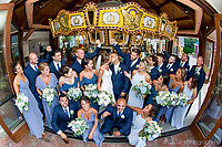 Wedding party photograph - On Carousel