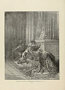 Assassination of Henry of Germany Plate LXXXV from the book Story of the crusades. with a magnificent gallery of one hundred full-page engravings by the world-renowned artist, Gustave Doré [Gustave Dore] by Boyd, James P. (James Penny), 1836-1910. Published in Philadelphia 1892