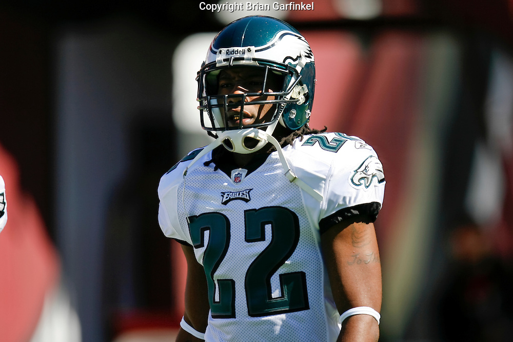 12 Oct 2008: Philadelphia Eagles cornerback Asante Samuel #22 warms up before the game against the San Francisco 49ers on October 12th, 2008. The Eagles won 40-26 at Candlestick Park in San Francisco, California.