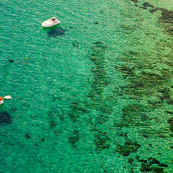 Aerial view of boats off Forementa Spain