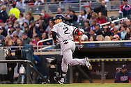 Jacoby Ellsbury #2 of the Boston Red Sox runs to 1st base against the Minnesota Twins on May 17, 2013 at Target Field in Minneapolis, Minnesota.  The Red Sox defeated the Twins 3 to 2.  Photo: Ben Krause
