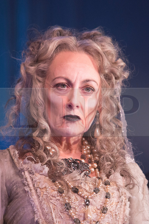"""© Licensed to London News Pictures. 04/02/2013. London, England. Paula Wilcox as Miss Havisham. A new stage adaptation of Charles Dickens's """"Great Expecations"""" will open at the Vaudeville Theatre, London, on Wednesday, 6 February 2013. It is the first ever full-scale stage play of Great Expectations in either the West End or on Broadway. Adaptation by Jo Clifford, directed by Graham McLaren. Photo credit: Bettina Strenske/LNP"""