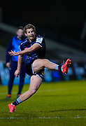 Sale Sharks fly-half Rob Du Preez converts a try during the European Champions Cup match Sale Sharks -V- Edinburgh Rugby at The AJ Bell Stadium, Greater Manchester,England United Kingdom, Saturday, December 19, 2020. (Steve Flynn/Image of Sport)