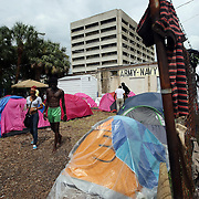 """A general overview of """"Camp Romney"""" during the Republican National Convention in Tampa, Fla. on Wednesday, August 29, 2012. (AP Photo/Alex Menendez)"""