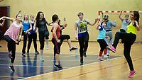 12.01.2014 Bialystok 22. Final WOSP N/z maraton zumby fot Michal Kosc / AGENCJA WSCHOD