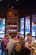 New York, NY, Sept. 28, 2013. Hector Perez, wine director of Casa Mono, at work during dinner.