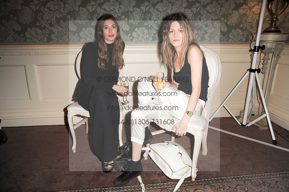 Left to right, ANOUSHKA BECKWITH and ROSE LANGLEY at a party to celebrate Penguin's reissue of Nancy Mitford's 'Wigs on The Green' hosted by Tatler at Claridge's, Brook Street, London on 10th March 2010.