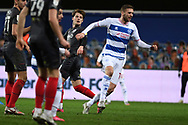 GOAL QPR Midfielder SAM Field(15) scores a goal 1-1 during the EFL Sky Bet Championship match between Queens Park Rangers and Brentford at the Kiyan Prince Foundation Stadium, London, England on 17 February 2021.