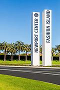 Newport Center Fashion Island Signage on Newport Center Drive