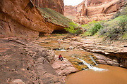 A waterfall in Coyote Gulch, Grand Staircase-Escalante National Monument, Utah.