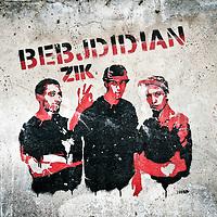 Tunis, Tunisia 17 October 2011<br /> Stencil in a wall of Tunis.<br /> Photo: Ezequiel Scagnetti
