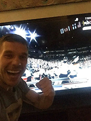 """Lukas Podolski releases a photo on Twitter with the following caption: """"""""ヴィッセル神戸(@vissel_kobe )のポドルスキ選手(@Podolski10 )移籍加入会見レポートはこちらから💁<br /> https://t.co/VaFtKkHtEm<br /> #Jリーグ #jleague #poldi https://t.co/TdnuQGndJs"""""""". Photo Credit: Twitter *** No USA Distribution *** For Editorial Use Only *** Not to be Published in Books or Photo Books ***  Please note: Fees charged by the agency are for the agency's services only, and do not, nor are they intended to, convey to the user any ownership of Copyright or License in the material. The agency does not claim any ownership including but not limited to Copyright or License in the attached material. By publishing this material you expressly agree to indemnify and to hold the agency and its directors, shareholders and employees harmless from any loss, claims, damages, demands, expenses (including legal fees), or any causes of action or allegation against the agency arising out of or connected in any way with publication of the material."""