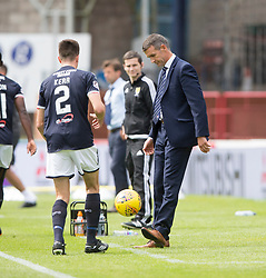 Ross County's manager Jim McIntrye. Dundee 1 v 2 Ross County, Scottish Premiership game played 5/8/2017 at Dundee's home ground Dens Park.