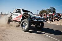 Mike Julson Trophy Truck arriving at finish of 2012 San Felipe Baja 250, San Felipe, Baja California, Mexico