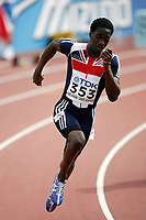 Friidrett, 9. august 2005, VM Helsinki, <br /> World Championships in Athletics<br /> Christian Malcolm, 200 meter