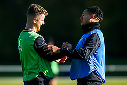 Billy Searle and Marcus Watson of Wasps during training ahead of the European Challenge Cup fixture against SU Agen - Mandatory by-line: Robbie Stephenson/JMP - 18/11/2019 - RUGBY - Broadstreet Rugby Football Club - Coventry , Warwickshire - Wasps Training Session