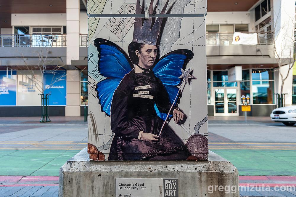 Belinda Isley, Change is Good. Downtown Boise, Idaho on April 19, 2020.