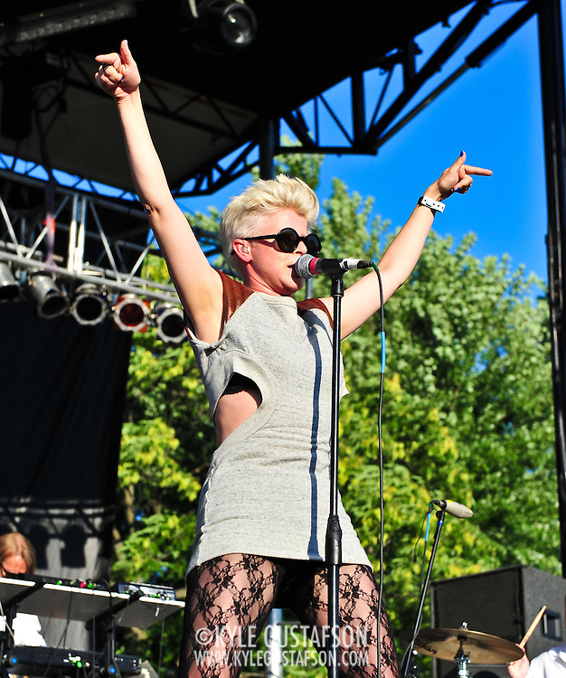 Robyn performs at the 2010 Pitchfork Music Festival in Chicago, IL.