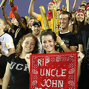 UCF fans celebrate the remembrance of 9/11 during an NCAA football game between the Boston College Eagles and the UCF Knights at Bright House Networks Stadium on Saturday, September 10, 2011 in Orlando, Florida. (AP Photo/Alex Menendez)