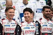June 12-17, 2018: 24 hours of Le Mans. Kamui Kobayashi,  Toyota Racing, Toyota TS050 Hybrid,  Mike Conway, Toyota Racing, Toyota TS050 Hybrid,  Jose Maria Lopez,  Toyota Racing, Toyota TS050 Hybrid