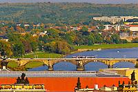 Bridge across the Elbe River, Dresden, Saxony, Germany