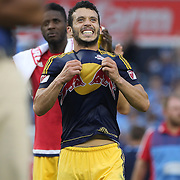 Felipe Martins, New York Red Bulls, celebrates his sides  3-1 victory at the final whistle during the New York City FC Vs New York Red Bulls, MSL regular season football match at Yankee Stadium, The Bronx, New York,  USA. 28th June 2015. Photo Tim Clayton