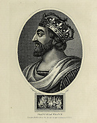 Francis I of France Copperplate engraving From the Encyclopaedia Londinensis or, Universal dictionary of arts, sciences, and literature; Volume VII;  Edited by Wilkes, John. Published in London in 1810