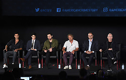 LOS ANGELES - AUGUST 9: (L-R) Ricky Martin, Darren Criss, Edgar Ramirez, Tom Rob Smith, Brad Simpson and Ryan Murphy onstage during 'The Assassination of Gianni Versace: American Crime Story' panel during the FX portion of the 2017 Summer TCA press tour at the Zanuck Theatre on the Fox Studio Lot on August 9, 2017 in Los Angeles, California. (Photo by Frank Micelotta/FX/PictureGroup) *** Please Use Credit from Credit Field ***
