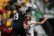 04 December 2011: Stanford's Emily Oliver (19). The Stanford University Cardinal played the Duke University Blue Devils at KSU Soccer Stadium in Kennesaw, Georgia in the NCAA Division I Women's Soccer College Cup Final.