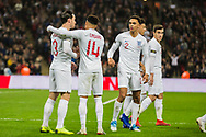 Jesse Lingard (England) celebrates his goal during the international Friendly match between England and USA at Wembley Stadium, London, England on 15 November 2018.