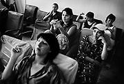 Kyrgyzstan Prison, Stepnoe Village. Inmates watching television.