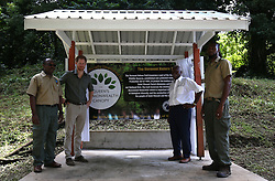Prince Harry, during a visit to the Vermont Nature trail in Saint Vincent and the Grenadines, during the second leg of his Caribbean tour.