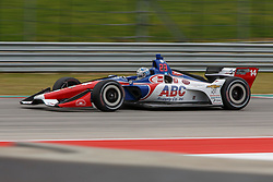 March 23, 2019 - Austin, TX, U.S. - AUSTIN, TX - MARCH 23: Tony Kanaan (14) in the ABC Supply AJ Foyt Racing, Chevrolet powered Dallara IR-18 at turn 19 during Practice 3 at the IndyCar Classic held March 22-24, 2019 at the Circuit of the Americas in Austin, TX. (Photo by Allan Hamilton/Icon Sportswire) (Credit Image: © Allan Hamilton/Icon SMI via ZUMA Press)