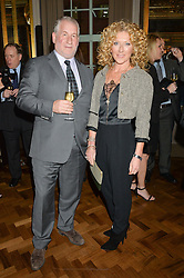 SIMON KELNER and KELLY HOPPEN at a reception to celebrate the Debrett's 500 2015 - a recognition of Britain's 500 most influential people, held at The Club at The Cafe Royal, 68 Regent Street, London on 26th January 2015.