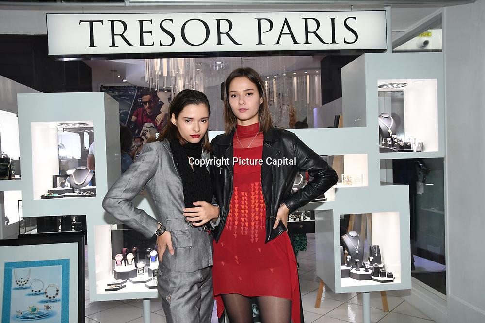Bloom Twins Ukrainian-born English pop music group & actress arrives at Tresor Paris In2ruders - launch at Tresor Paris, 7 Greville Street, Hatton Garden, London, UK 13th September 2018.