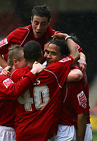 Photo: Dave Linney.<br />Walsall v Bradford City. Coca Cola League 1. 25/03/2006<br />Walsall's Chris Westwood.(R) makes it 2-0 to Walsasll