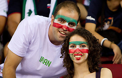 Fans of Iran during  the Preliminary Round - Group B basketball match between National teams of Slovenia and Iran at 2010 FIBA World Championships on September 2, 2010 at Abdi Ipekci Arena in Istanbul, Turkey. (Photo By Vid Ponikvar / Sportida.com)