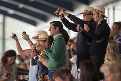 Spanish fans with Castanets<br /> European Championships - Aachen 2015<br /> © Hippo Foto - Jon Stroud<br /> 12/08/15