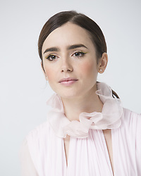 October 6, 2016 - Hollywood, California, U.S. - Lily Collins stars in new movie Rules Don't Apply. Lily Collins is the daughter of singer Phil Collins. (Credit Image: © Armando Gallo/Arga Images via ZUMA Studio)