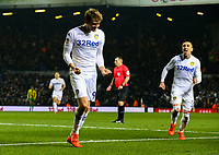 Leeds United's Patrick Bamford celebrates scoring his side's third goal, his second <br /> <br /> Photographer Alex Dodd/CameraSport<br /> <br /> The EFL Sky Bet Championship - Leeds United v West Bromwich Albion - Friday 1st March 2019 - Elland Road - Leeds<br /> <br /> World Copyright © 2019 CameraSport. All rights reserved. 43 Linden Ave. Countesthorpe. Leicester. England. LE8 5PG - Tel: +44 (0) 116 277 4147 - admin@camerasport.com - www.camerasport.com