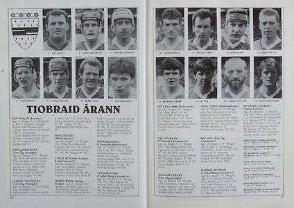 All Ireland Senior Hurling Championship Final,.03.09.1989, 09.03.1989, 3rd September 1989, .Antrim v Tipperary, .03091989AISHCF,.Tipperary 4-24, Antrim 3-9,..Tipperary, Ken Hogan, John Heffernan, Conor O'Donovan, Noel Sheehy, Conal Bonnar, Bobby Ryan, John Kennedy, Colm Bonnar, Declan Carr, John Leahy, Declan Ryan, Michael Cleary, Pat Fox, Cormac Bonnar, NIcholas English,