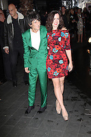 LONDON - NOVEMBER 27: Ronnie Wood; Sally Humphries attended the British Fashion Awards 2012 at The Savoy Hotel, London, UK. (Photo by Richard Goldschmidt)