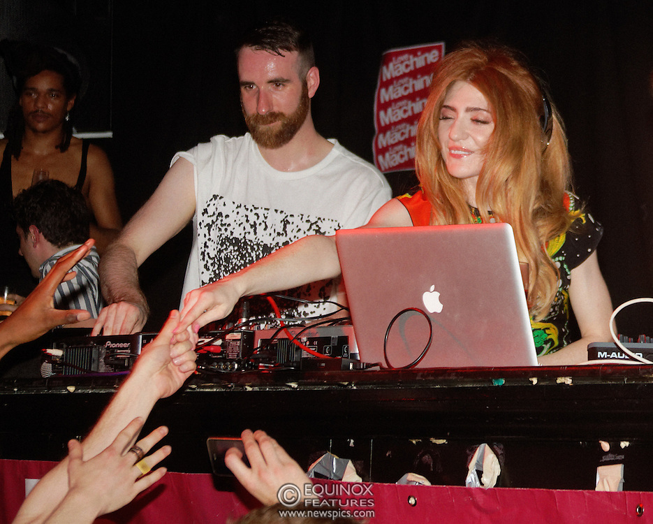 London, United Kingdom - 5 June 2011.Girls Aloud band member Nicola Roberts DJ'ing to launch her new single Beat Of My Drum at the Hoxton Square Bar and Kitchen, Shoreditch, London, England, UK. .Copyright: ©2011 Equinox Licensing Ltd. +448700 780000.Contact: Equinox Features.Date Taken: 20110605.Time Taken: 002740+0000.www.newspics.com